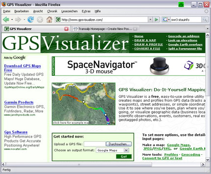 GPSvisualizer