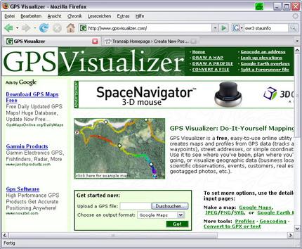 GPSvisualizer