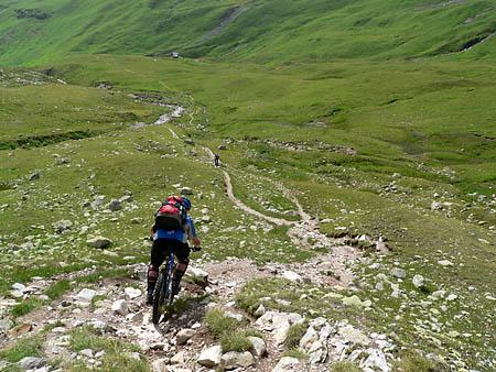 Trail durchs Val Ravaisch