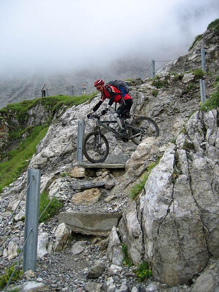 Schöner Trail mit Publikum